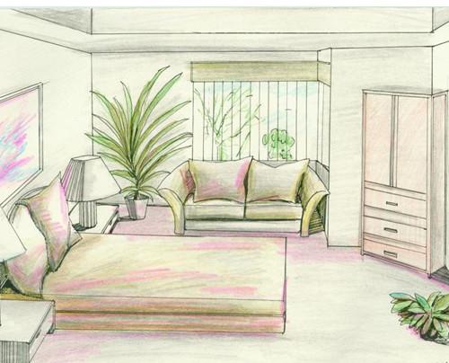 室内设计-手绘效果图